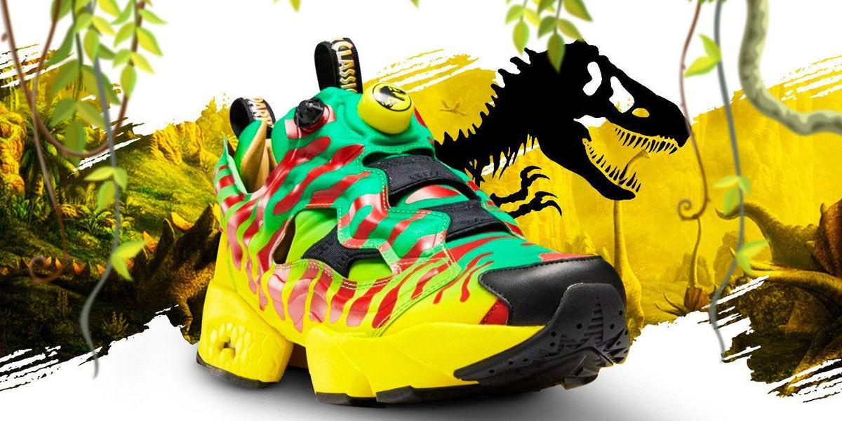 환영합니다 ... 'Jurassic Park'Reebok Sneakers에
